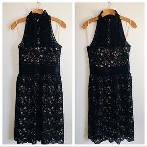 Banana Republic Black Lace Sleeveless Dress Size 6